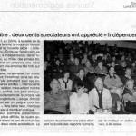 """200 spectateurs ont apprécié """"Indépendance"""""""