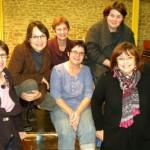 """(De gauche à droite) Nathalie, Myriam, Marie-Claude, Anne-Marie, Rachel, Christine et hervé dans """"D comme Turbulences"""""""